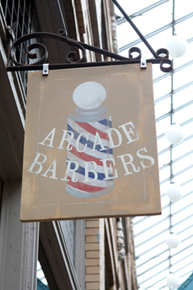 Arcade Barbers Shop Sign