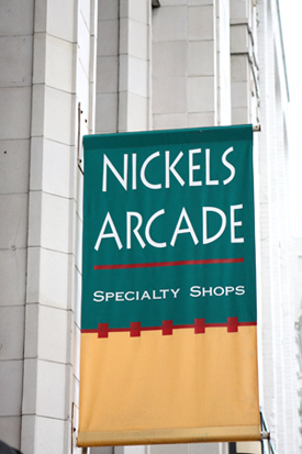 Nickels Arcade Sign