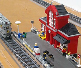 Arcade Barbers Lego Train and City